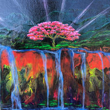 Waterfall Tree of Life Pour
