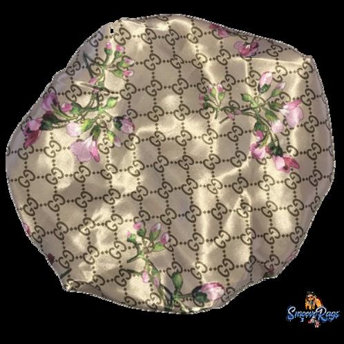 Tan GG Floral Bonnet