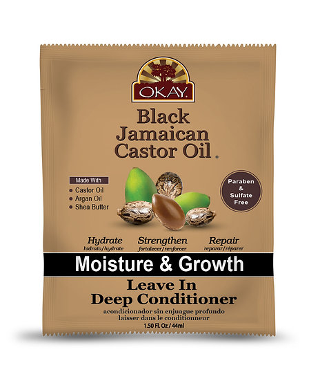 Okay Black Jamaican Castor oil leave in conditioner (packet)