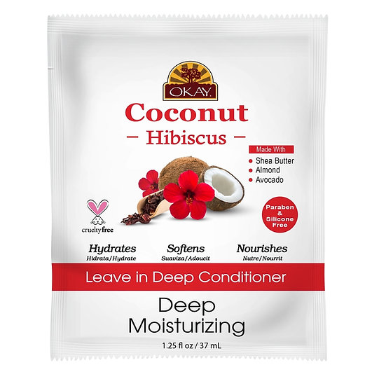 Okay coconut Hibiscus leave in conditioner (packet)