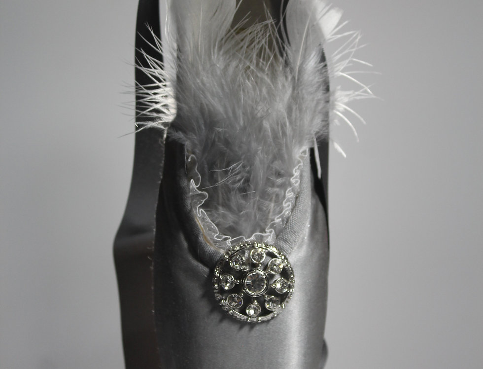 SILVER DECORATIVE POINTE SHOE