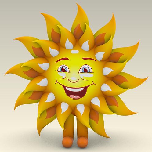 Надувной костюм Солнышко