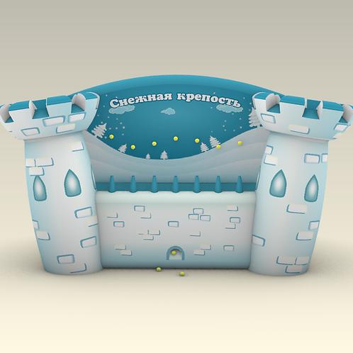 Надувной аттракцион Снежная крепость