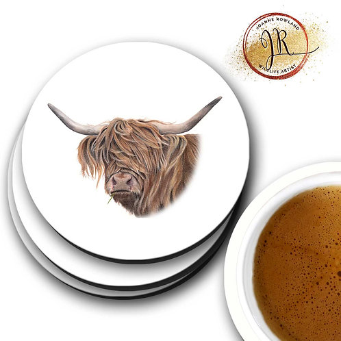 Highland Cow Coaster - Toffee Cow
