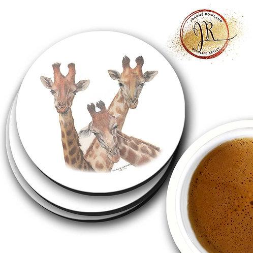 Giraffe Coaster - Family Selfie