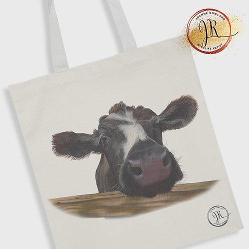 Cow Tote Bag - Muriel the Curious Calf
