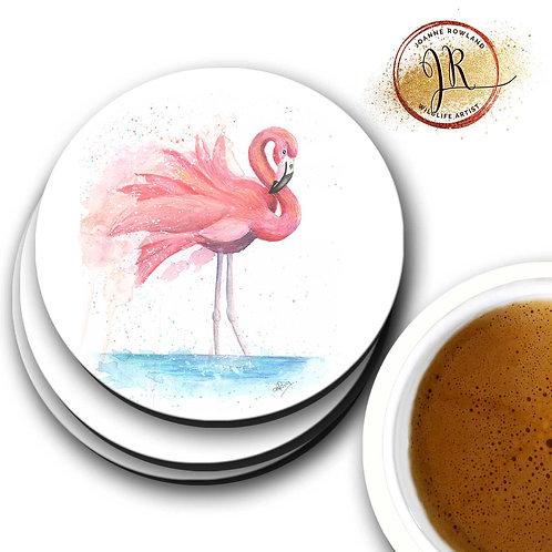 Flamingo Coaster - Colour Splash Flamingo