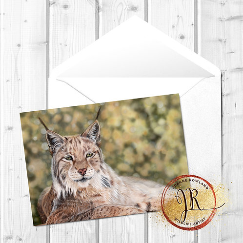 Lynx Fine Art Card - Vigilance