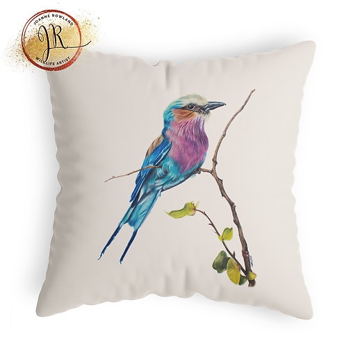 Lilac Breasted Roller Cushion - Amani