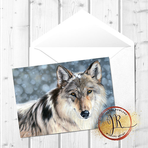 Wolf Fine Art Card - Enigma