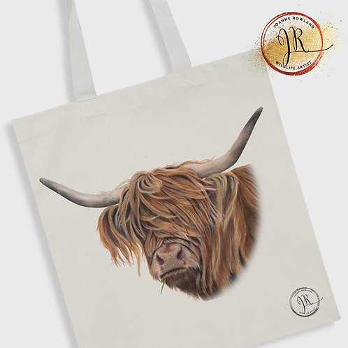 Highland Cow Tote Bag - Toffee Cow