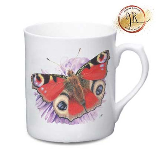 Butterfly China Mug - Bea the Peacock Butterfly