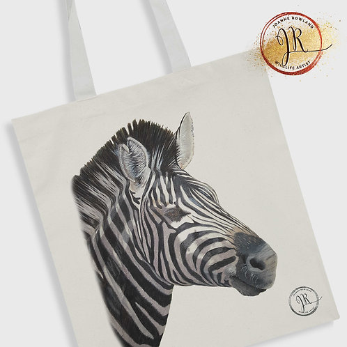 Zebra Tote Bag - Lucky the Zebra