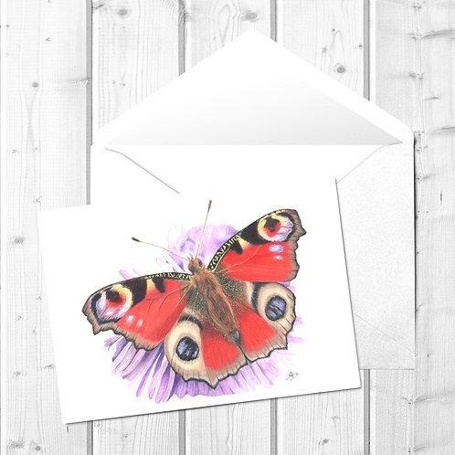 Butterfly Fine Art Card - Bea the Peacock Butterfly