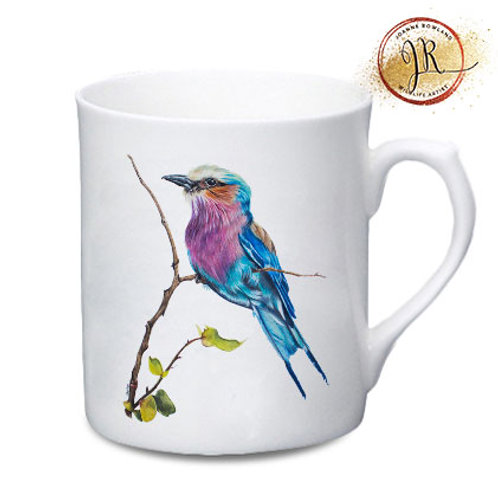 Lilac Breasted Roller China Mug - Amani