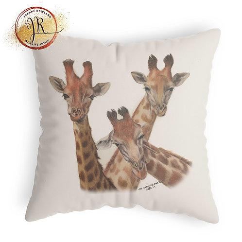 Giraffe Cushion - Family Selfie