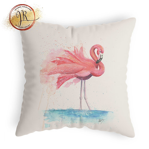 Flamingo Cushion - Colour Splash Flamingo
