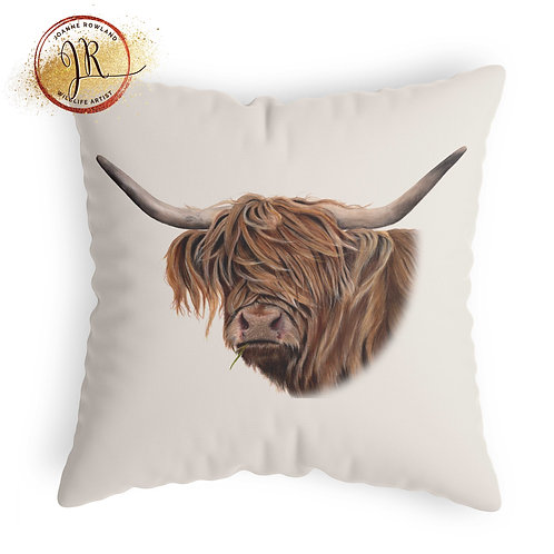 Highland Cow Cushion - Toffee Cow