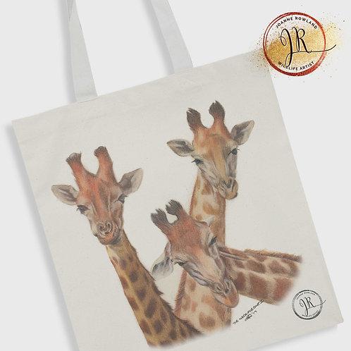 Giraffe Tote Bag - Family Selfie