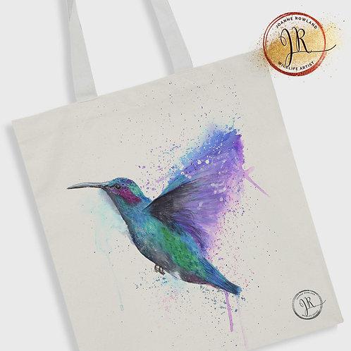 Hummingbird Tote Bag - Colour Splash Hummingbird
