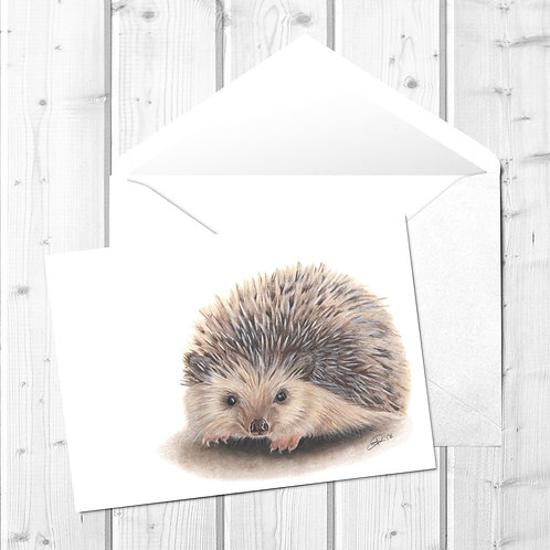 Hedgehog Fine Art Card - Huggy the Hedgehog