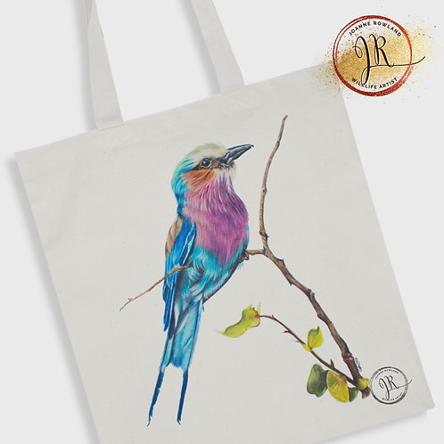 Lilac Breasted Roller Tote Bag - Amani