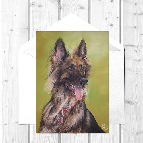 German Shepherd Fine Art Card - Sascha