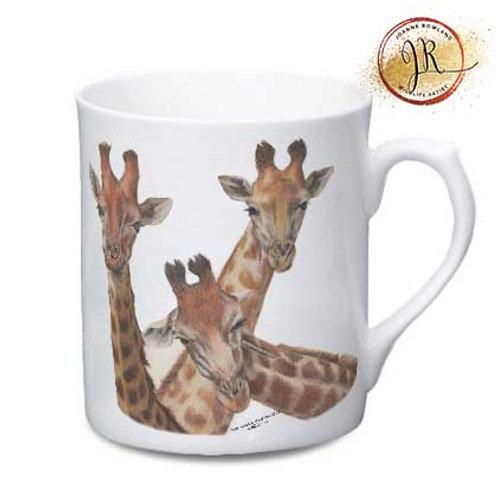 Giraffe China Mug - Family Selfie