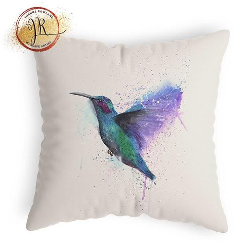 Hummingbird Cushion - Colour Splash Hummingbird