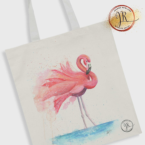 Flamingo Tote Bag - Colour Splash Flamingo