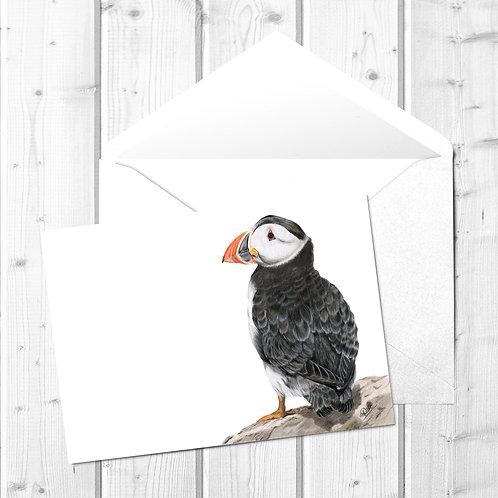 Puffin Fine Art Card - Sir Percival the Puffin