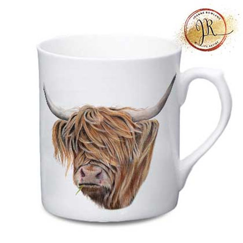 Highland Cow China Mug - Toffee Cow