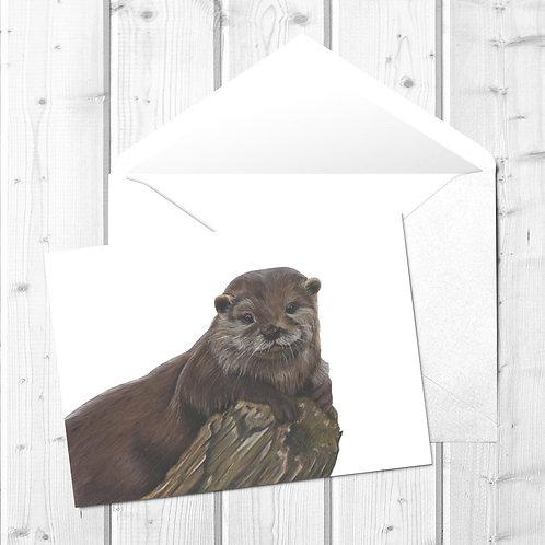 Otter Fine Art Card - Otterley Adorable
