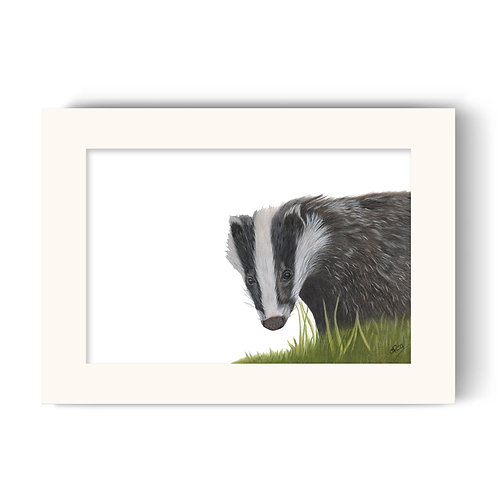Badger Print - Hector the Badger