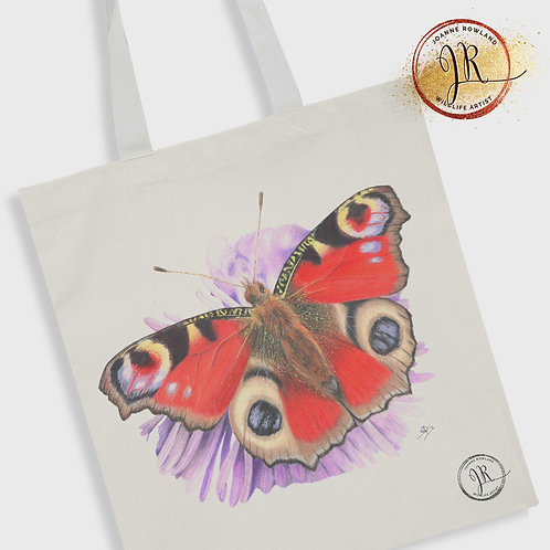 Butterfly Tote Bag - Bea the Peacock Butterfly