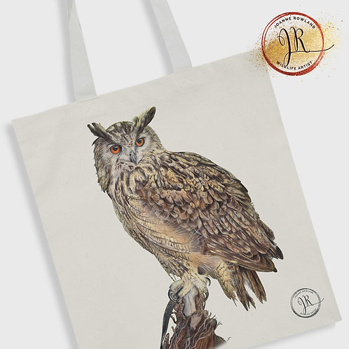 Eagle Owl Tote Bag - Imperial