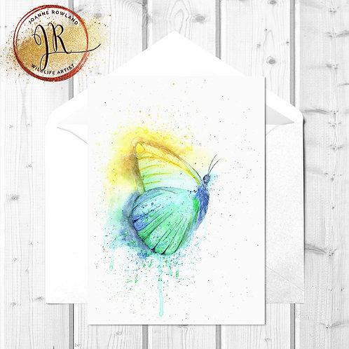 Butterfly Fine Art Card - Colour Splash