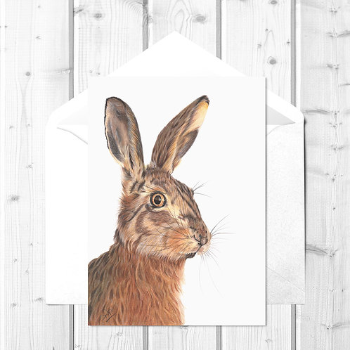Hare Fine Art Card - Hare We Go!