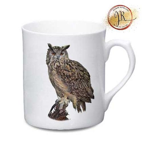 Eagle Owl China Mug - Imperial