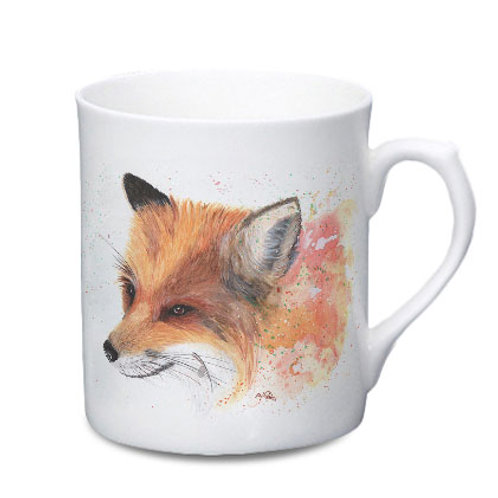 Fox China Mug - Colour Splash Fox