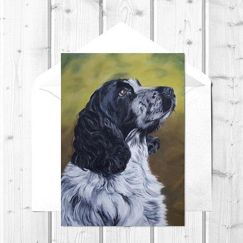 Cocker Spaniel Fine Art Card - Jasper
