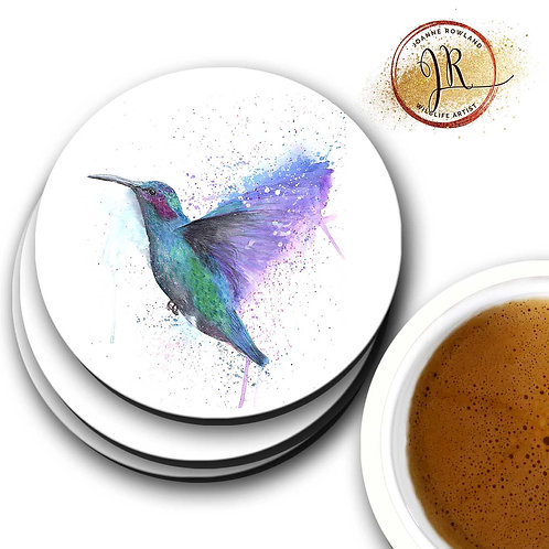 Hummingbird Coaster - Colour Splash Hummingbird