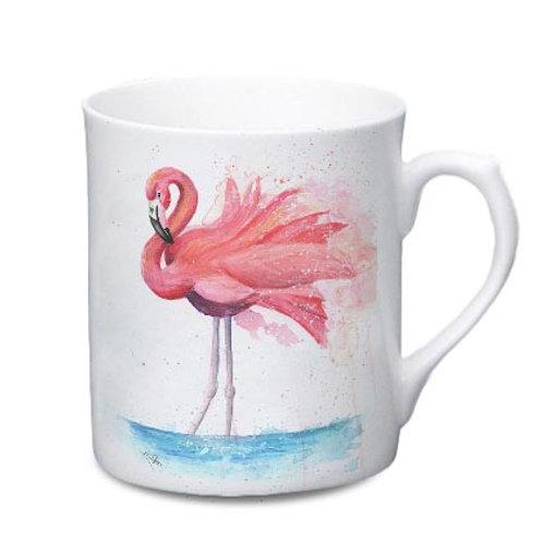 Flamingo China Mug - Colour Splash Flamingo