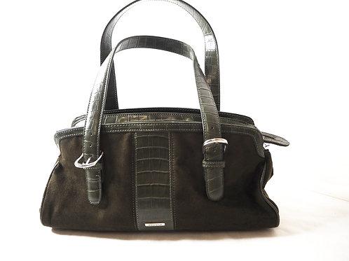 Diana Ferrari Faux Leather Suede Handbag