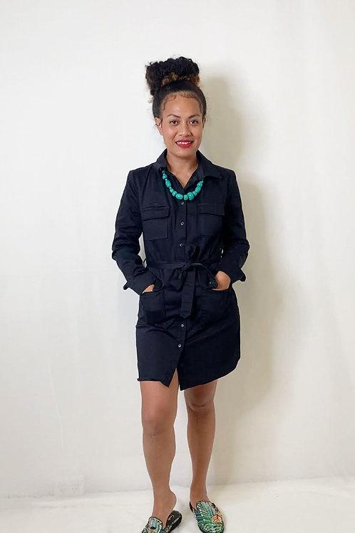 Kookai Black Shirt Dress