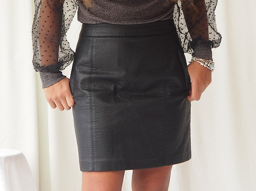 Sheike Faux Leather Skirt