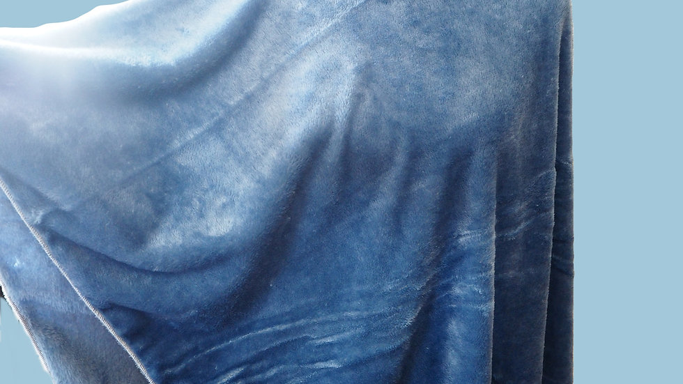 Cozy Blue Poncho