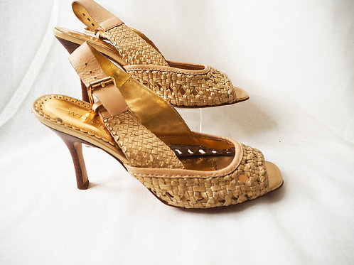Witchery Gold Woven Heels