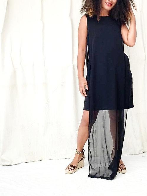 ASOS Black Chiffon Dress