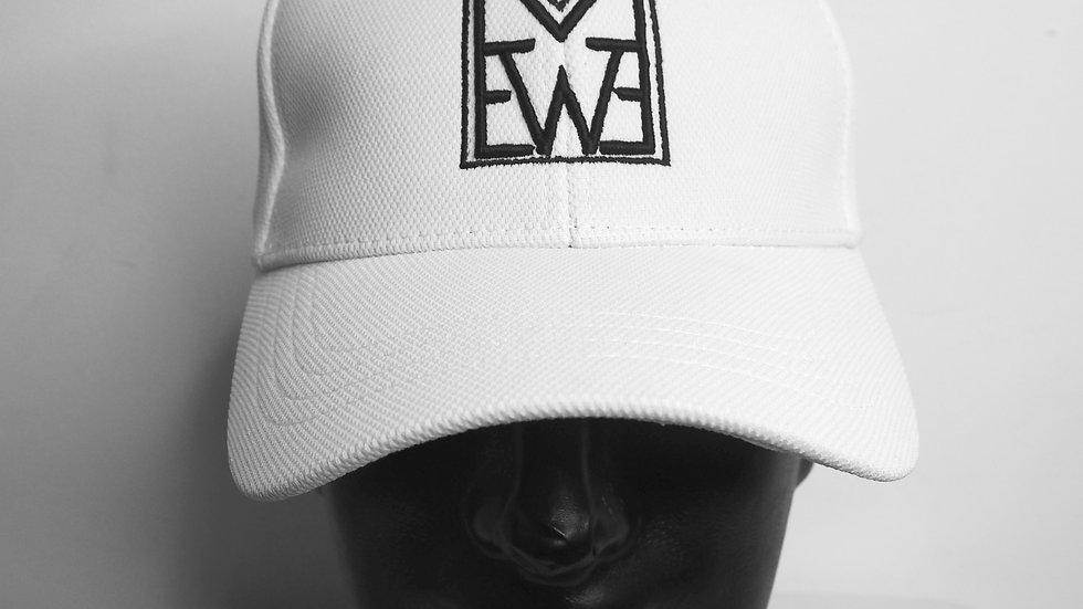 White Polyester - Baseball Cap
